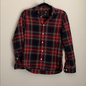 H&M | flannel tartan plaid button down